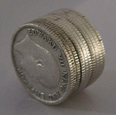 UNUSUAL ANGLO INDIAN SILVER 1/4 RUPEE PILL BOX PILE OF COINS ANTIQUE c1920