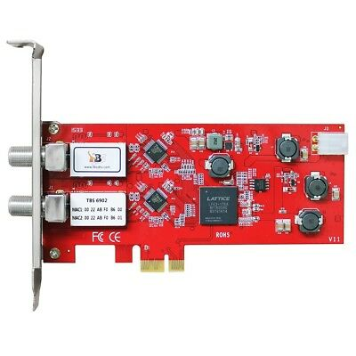 TBS 6902 PCIe CARD - Dual Satellite HD Low-profile PCIe TV Tuner Card DVB-S2