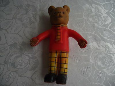 Vintage Rupert The Bear Rubber Squeaky Toy