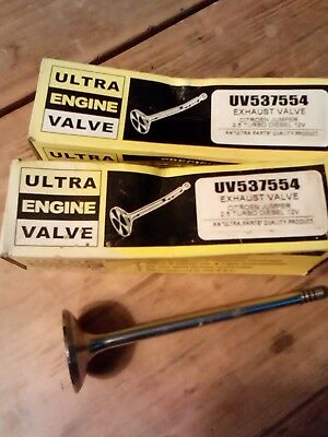 2 X Exhaust Valves Fore Citroen 2.5 Turbo Diesel - New Old Stock