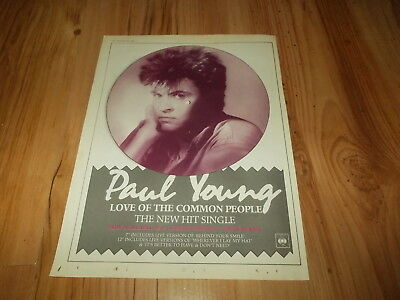 Paul Young-Love of the common people-1983 magazine advert