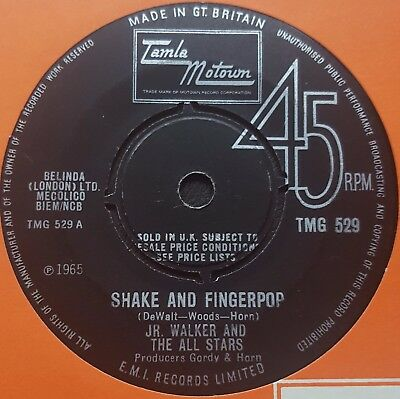 Jr Walker and The All Stars - Shake and Fingerpop TMG 529 Tamla Motown 1965