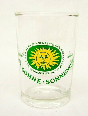 West Germany Shot Glass Schmitt Sohne Sonnenqualitat Wine Vineyard Collectible
