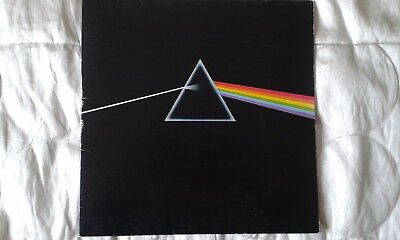 PINK FLOYD Dark Side Of The Moon 1973 Vinyl SHVL 804 inc 2 Posters 2 Stickers