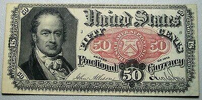 1875 Fractional 50 Cents Currency L@@K --