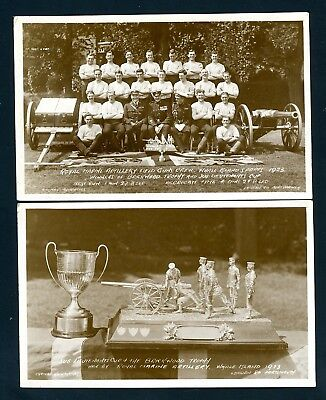 Whale Island Sports, Marine Artillery Trophy Winners  1923,  2 Cards  (O1444)
