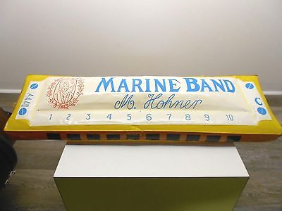 VINTAGE HOHNER HARMONICA STORE DISPLAY SIGN ADVERTISING GREAT PIECE! 50's 60's