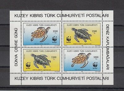 Timbre Stamp  Bloc Chypre Turc Y&t#30 Tortue Turtle Neuf**/mnh-Mint 1989 ~A70