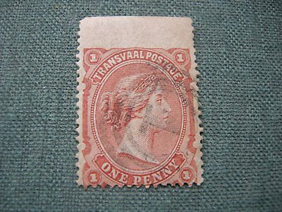 Transvaal 1d red stamp QV thin paper Fine used.
