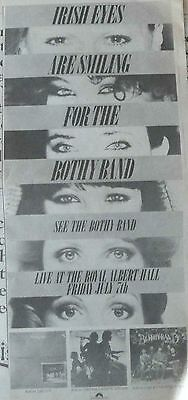 THE BOTHY BAND : -Large NEWSPAPER ADVERT- 1978 40cm x 18cm
