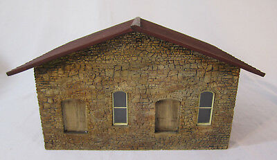 O Scale Stone Shed/Storage - Plaster Construction - Nice