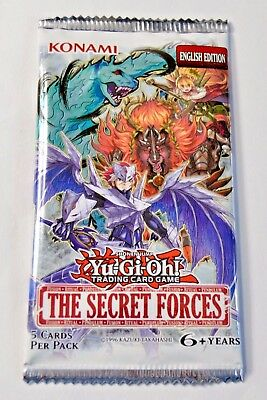 YuGiOh! The Secret Forces Booster - New & Sealed English Edition 1x pack 6 cards