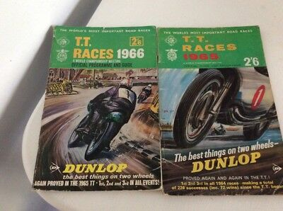 ISLE OF MAN 1965.1966 TOURIST TROPHY RACES MOTORCYCLE Signed Guide & Programme