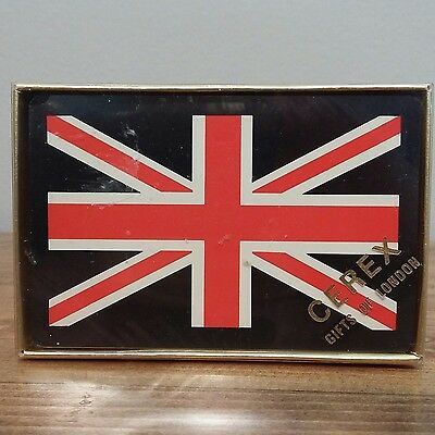 Vintage LONDON Union Jack Collectible Playing Cards CEREX of London SEALED!