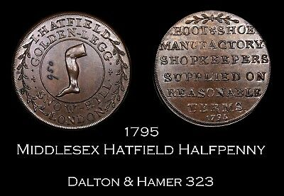 1795 Middlesex Hatfield Conder Halfpenny D&H 323, nice!