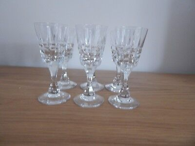 Crystal Sherry Glasses Set of 6