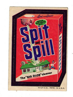 1973 Topps Wacky Packages 3rd Series 3 Rare Pulled Title Spit and Spill EX