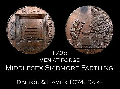 1794 Middlesex Skidmore Conder Farthing D&H 1074, Rare