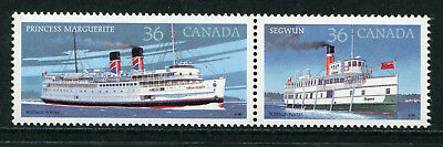 1987 Canada Mnh Sg 1245-1246 Canadian Steamships Commemorative Stamp Set