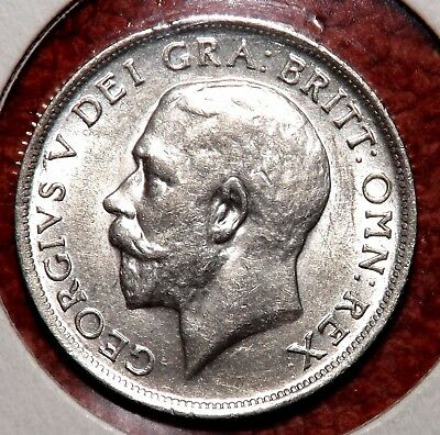 1915 George V .925  Silver Shilling - HIGHLY COLLECTIBLE GRADE & DETAIL