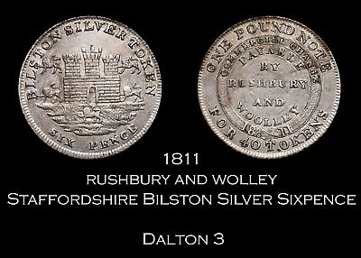 1811 Staffordshire Bilston Silver Sixpence, D3