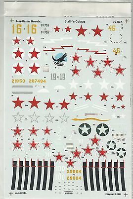 Aeromaster 72-037 P-39 Airacobra Russian decals in 1:72 Scale