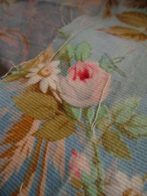 2 Beautiful Curtain/Cushion Fabric Panel French Bouquet Of Roses (B)