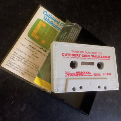 """Tandy TRS-80 Color Computer Game """" Cuthbert Goes Walkabout """""""