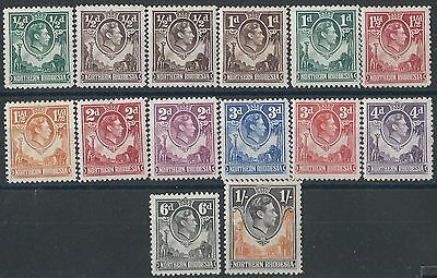 K155) Northern Rhodesia. 1938/52. MM.  Small Collection. c£65