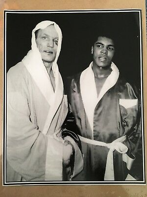 RARE Un signed 10x8 matt photo of boxers Sir Henry Cooper and Muhammad Ali !!