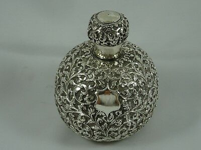 INDIAN ( CUTCH ), solid silver SCENT BOTTLE, c1900, 177gm