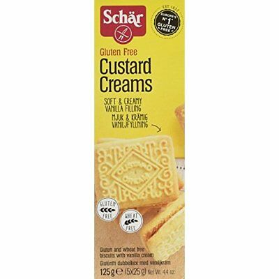 Schar Gluten Free Custard Cream Biscuit 125 g (Pack of 3)