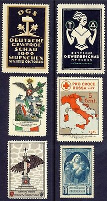 COMITATO, RED CROSS, WAR ORPHANS etc : CINDERELLA CHARITY STAMP COLLECTION.