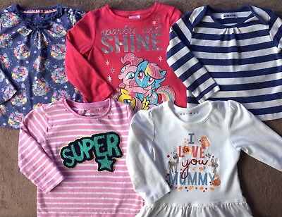 Girls Winter Clothes Bundle Of Long-sleeved Tops Age 12-18 Months VGC