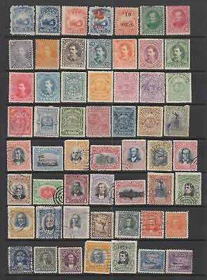 Costa Rica early collection , 99 stamps.
