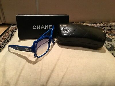 Chanel Sunglasses With Case Blue 100% Genuine