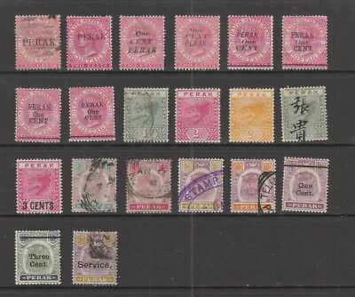 Perak early collection, 20 stamps