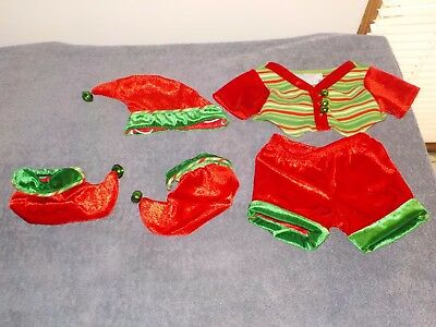 Build a Bear Christmas Outfit  Santa's workshp Elf costume With Jingle Bells