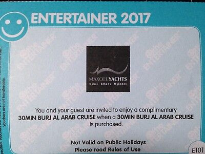 Dubai the Entertainer 2:1Gutschein 2017- Boots Tour zum Burj  Al Arab