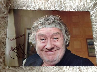 Rab C Nesbitt Gregor Fisher Hand Signed 12 X 8 Photo Tv Show Scotland