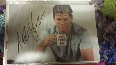 Dexter Signed 12 X 8 Photo Michael C Hall Hand Signed Coa Tv Show