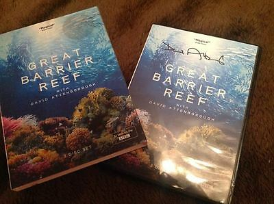 Sir David Attenborough Signed Bbc Dvd Great Barrier Reef W Coa Ideal Gift