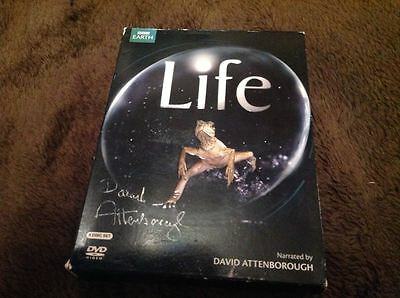 Sir David Attenborough Signed Bbc Dvd Life Wildlife Boxset W Coa Ideal Gift