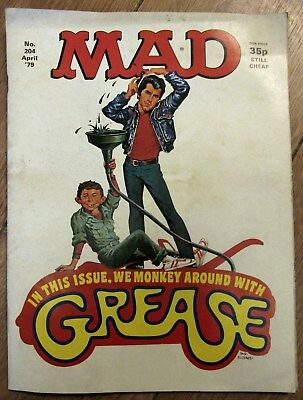 MAD Magazine No 204  April `79  GREASE is the Word