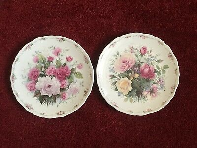 2 PLATES from the ROSE GARDEN COLLECTION - ROYAL ALBERT COLLECTORS PLATES