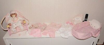 Baby Annabell Huge Bundle. Interactive Doll, Bouncer, Cot, Outfits, Papoose, Ext
