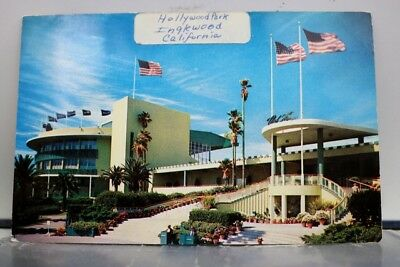 California CA Inglewood Hollywood Park Entrance Postcard Old Vintage Card View