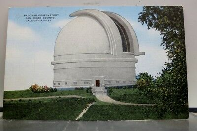 California CA San Diego County Palomar Observatory Postcard Old Vintage Card PC