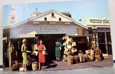 California CA Los Angeles Farmers Market Postcard Old Vintage Card View Standard