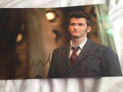 DAVID TENNANT HAND SIGNED PHOTO 12 x 8 DR WHO THE DOCTOR DOCTOR WHO COA